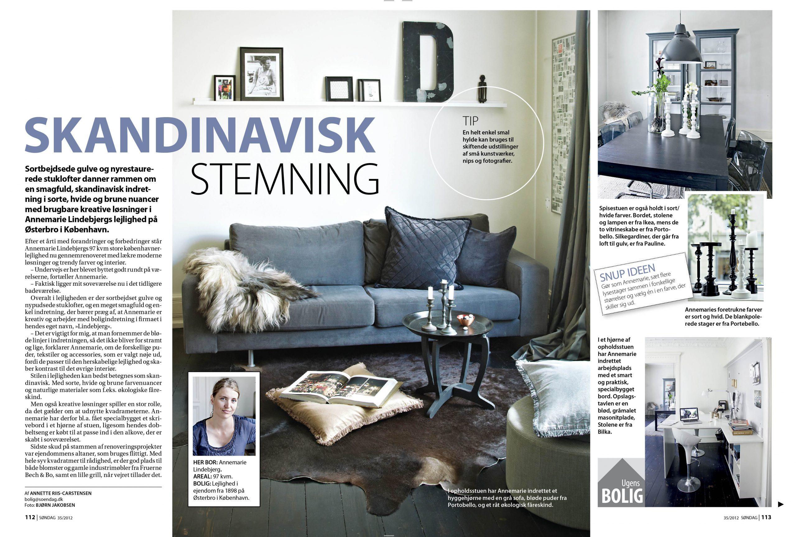 Lindebjerg-Design article 1 in Ugebladet Søndag