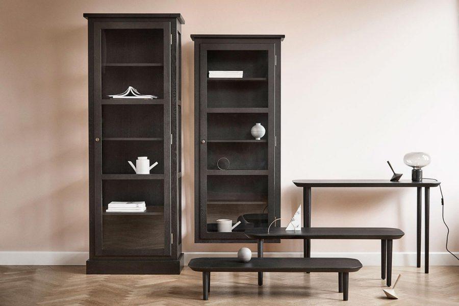 Image of Lindebjerg Design Dark Oak Vitrine cabinets & Table Series