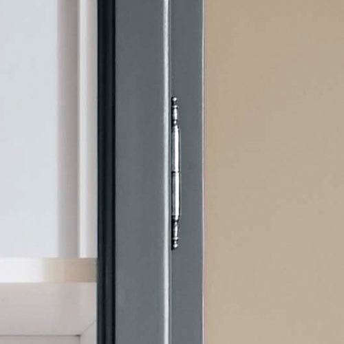 Close up image of Lindebjerg Design Classic V2 Vitrine Cabinet door hinge