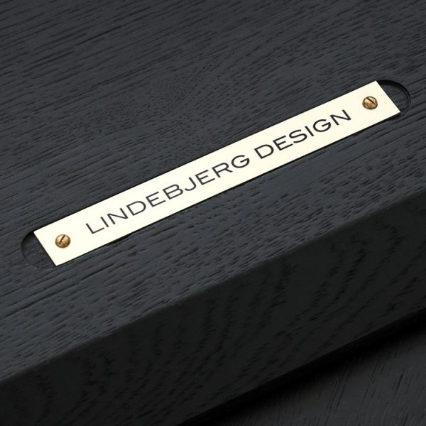 Close up image of the bottom side of Lindebjerg Design Table with brand