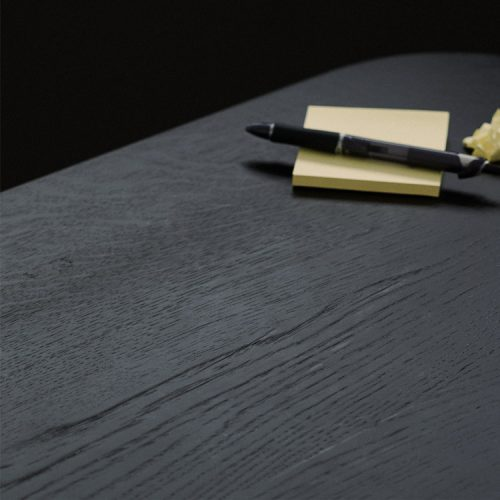 Close up image of Lindebjerg Design Dark Oak table from above