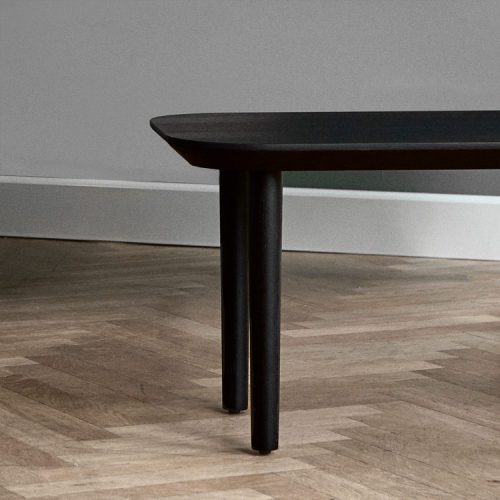 Close up image of Lindebjerg Design T40 table from the side