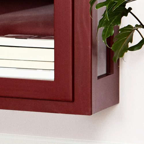 Close up image of Lindebjerg Design Color N4 Vitrine Cabinet bottom