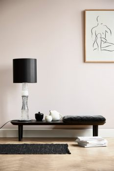 Image of Lindebjerg Design T20 Low Table in a pink room with interior