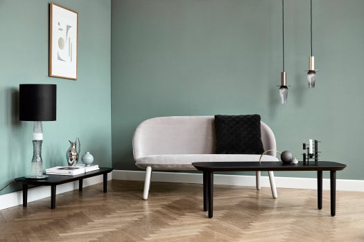 Image of Lindebjerg Design T40 Coffee Table in a green room with interior